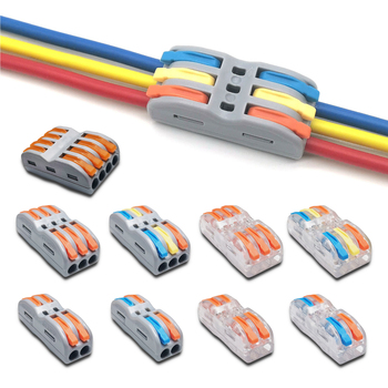 Mini Fast Wire Cable Connectors Universal Compact Conductor Spring Splicing Wiring Connector Push-in Terminal Block SPL-1/2/3/4