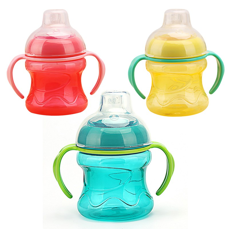 High Quality Feeding Bottles Cups For Babies Kids Water Milk Bottle Soft Mouth Baby Feeding Bottle NEWST  Training With Handle