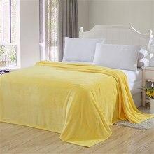 Sofa Light Thin Mechanical Wash Flannel Plush Blankets Warm Coral Fleece Fur Blanket Winter Sheet Bedspread Quilt Home Textile(China)