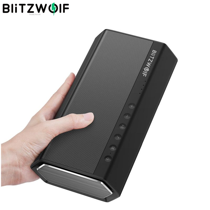 Blitzwolf 40 w 5200 mah duplo driver portátil sem fio bluetooth alto falante 30 w reforçado baixo ascendente mãos livres aux in on AliExpress - 11.11_Double 11_Singles' Day