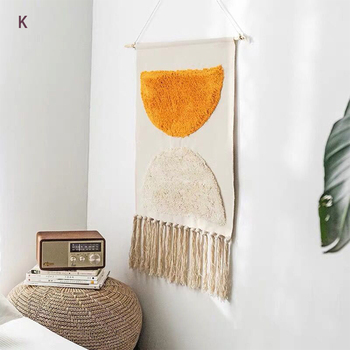 Macrame Wall Hanging Tapestry Cotton Linen Tassel Tapestry Geometric Print Muslim Wall Hanging Macrame Home Decor Tapestries butterfly print home decor wall hanging tapestry