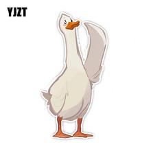 YJZT 15.8CM*8.5CM Animal Cartoon Style Swan Car Sticker PVC Automotive