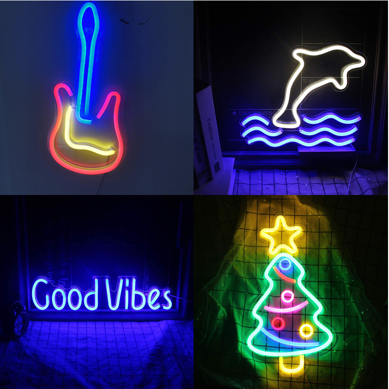 Bar Neon Light Party Wall Hanging LED Neon Sign for Shop Window Art Wall Decor Neon Lights Colorful Neon Lamp USB Powered image