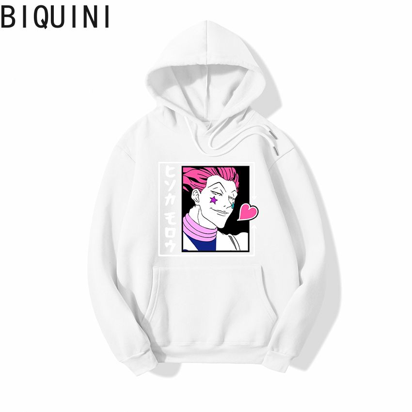 HUNTER X HUNTER HISOKA MOROW Hoodies 12 Color Hooded Tops UNISEX basic print Sweatshirt Long-sleeved  Plus Velvet  Streetwear 11