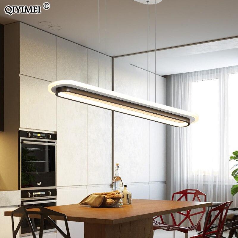 Pendant Lights For Living Hallway Corridor Dining Room Lighting Lamp Modern New Fixture White Black HangLamp Luminaria Abajur