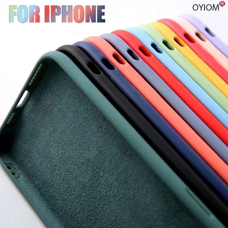 Оригинальный Роскошный чехол из жидкого силикона для Apple iPhone 11 12 Pro Max mini 7 8 6 6S Plus XR X XS MAX SE 128g, противоударный чехол
