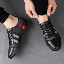 2020 Man Genuine Leather Oxfords Casual Shoes Luxury Brand Gentleman Sh