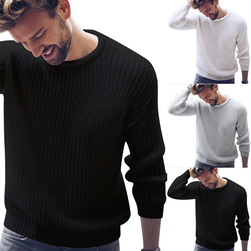 Cysincos Pullover Plus-Size Jumper Sweater Knitted Male Korean-Style Autumn Men's Casual