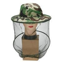 Cabeça chapéu net aba larga anti inseto abelha voar máscara protetora malha capa para apicultor