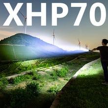 Lampe de poche xhp70, charge usb, extensible, zoom, résistant aux chocs, rechargeable 18650, torche, forte queue magnétique, 100000LM