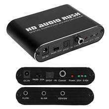 DTS AC3 Decoder Audio Analog Digital 5.1 Channel Fiber Coaxial Converter untuk RCA Interface atau Headphone 3.5 Mm Audio Port(China)