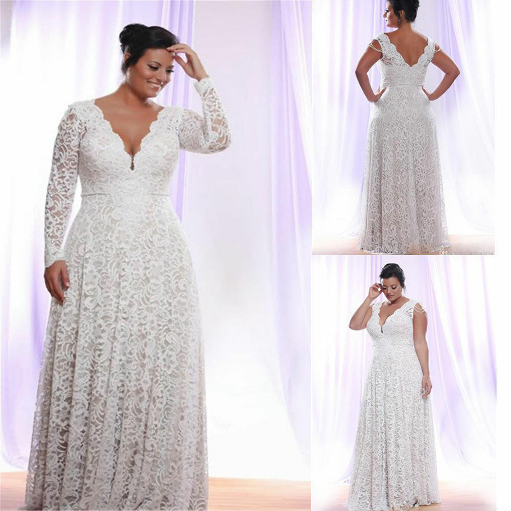 Simple Wedding Dresses Plus Size Detachable Long Sleeves Bridal Gown V-neck A-line Custom Vintage Dress Vestidos De Novia
