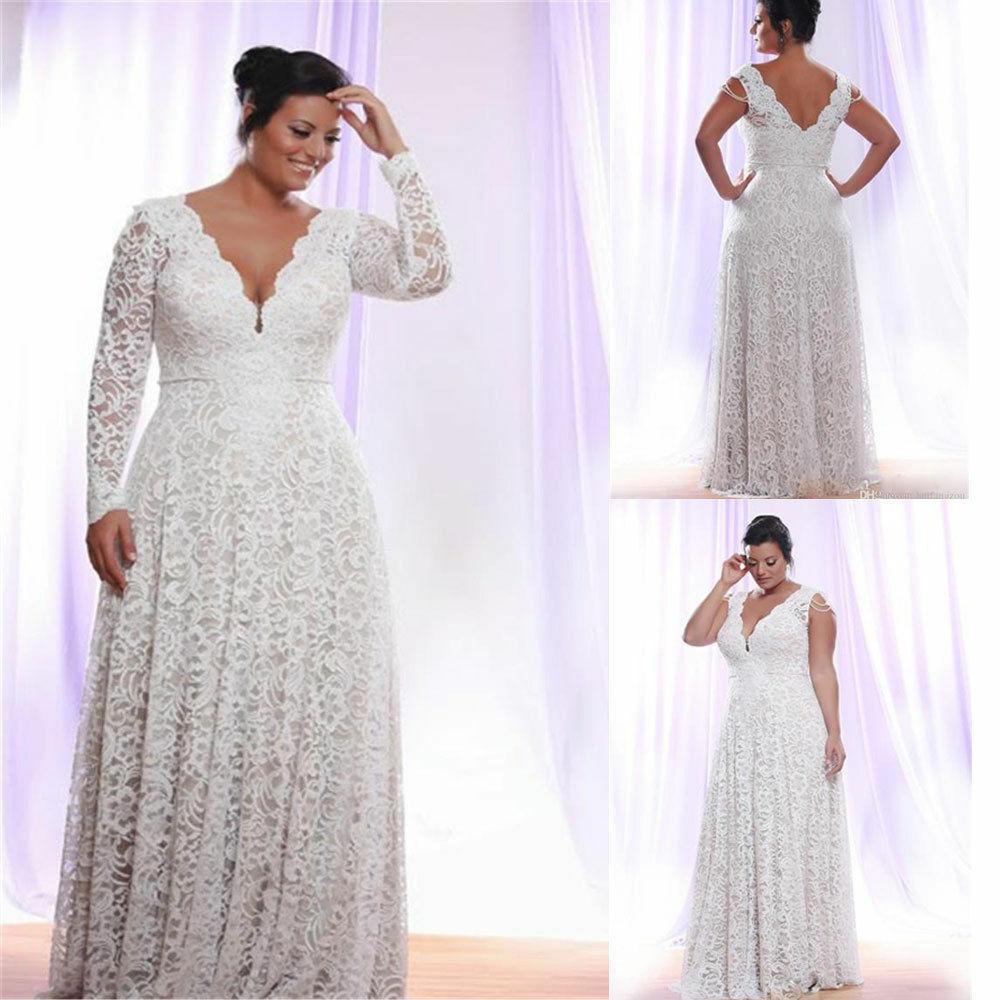 Simple Wedding Dresses Plus Size Detachable Long Sleeves Bridal Gown V-neck A-line Custom Vintage Dress Vestidos De Novia