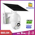 Открытый WI-FI IP Камера 4G сим-карты с Панели солнечные безопасности Камера 1080P PoE IP PTZ Батарея Камеры Скрытого видеонаблюдения Камера уличная в...