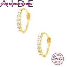 Aide 925 стерлингового серебра Серебряные серьги Круглые бриллианты