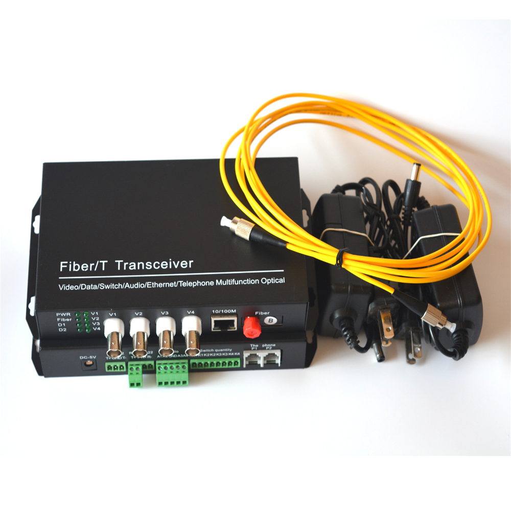 Ethernet Audio vidéo au dessus des convertisseurs optiques de médias de Fiber, monomode jusqu'à 20Km pour la caméra de Surveillance de sécurité de sécurité - 6