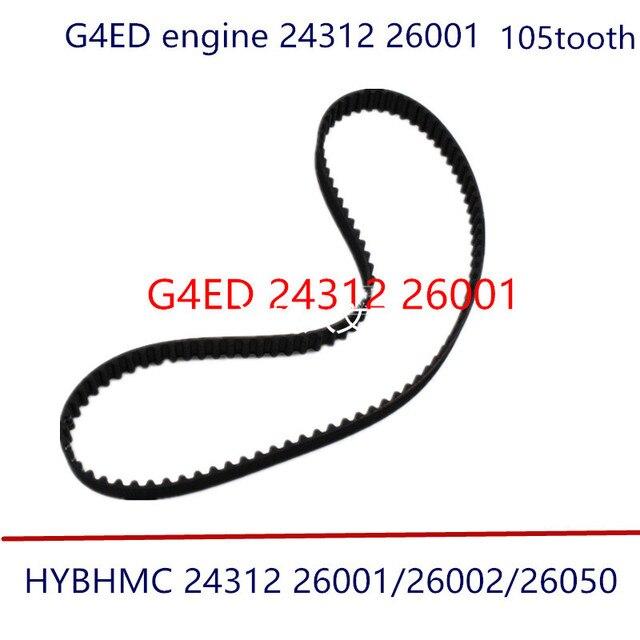 Courroie de distribution pour moteur hyundai | Pour KIA 1.6 G4ED VVT dent 2431226001 2431226050 105