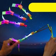 Мигающий Летающий вертолет игрушка 3 шт./компл. светодиодный светильник стрела ракета вращающиеся летающие игрушки Outdoorfor дети YJS Прямая поставка