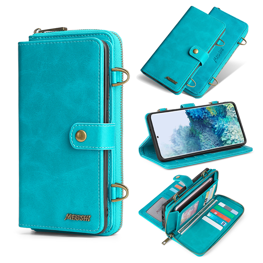 -020 Detachable Wallet Backpack Strong Adsorption Leather Phone Case For Samsung Galaxy A50 A51 A70 A71 S9 S10 S20 S20plus