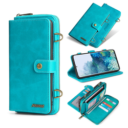 MEGSHI-020 Detachable wallet backpack Strong adsorption Leather phone case for Samsung Galaxy A50 A51 A70 A71 S9 S10 S20 S20Plus