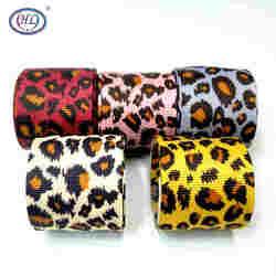 HL 38mm 2yards/5yards léopard gros-grain rubans décoration de fête de mariage bricolage couture cadeau emballage ruban de noël