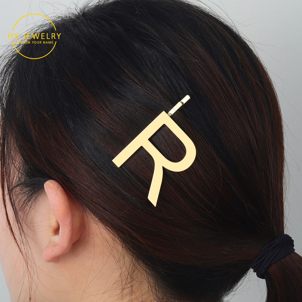 Personalized Hair Clips Women Cute Styling Hairclips Accessories Letters Word Jewelry Fashion Metal Hairpin Custom Bridal Party