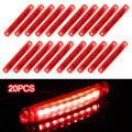 9 светодиодный 12-24 В лампы для автобуса, грузовика, прицепа, парковочные огни, боковые габаритные огни, задние индикаторы, красный парковочны...