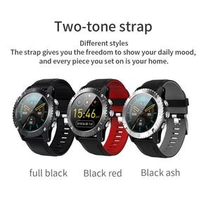 Image 5 - 2020 sport inteligentny zegarek mężczyźni muzyka Bluetooth informacje Push pomiar ciśnienia tętna wysokość połączeń przypomnienie Smartwatch
