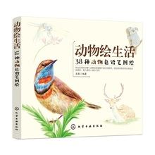 38 Animals Color Pencil Drawing Book Bird, Cat, Rabbit Colored Pencil Zero-based Hand Drawn Painting Book
