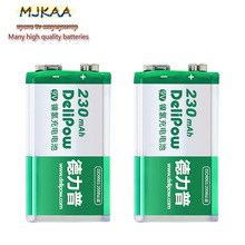 New Crown 9V 230mAh Li-ion NiMH Rechargeable Battery for KTV Microphone Toy Remote Control
