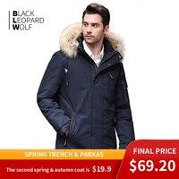 Blackleopardwolf Winter Jacket Men's Winter Fashion Parka Detachable New Long Alaska Coat with Fur Raccoon BL 6601