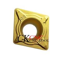 100% Original CCMT09T304-HF YBC251 CCMT09T308-HF CNC lathe 9.7mm Fine processing Carbide insert for sc turning holder