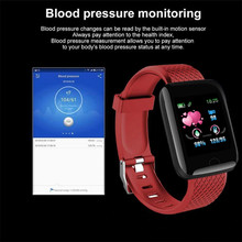 Reloj inteligente deportivo 116 Plus, pulsera inteligente con control del ritmo cardíaco y de la presión sanguínea y de la distancia, para correr, calorías, barata