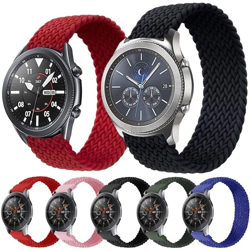Correa de tela de nailon para Huawei Watch GT 2, correa elástica de 20mm y 22mm para Amazfit gts 2, bip, Samsung galaxy