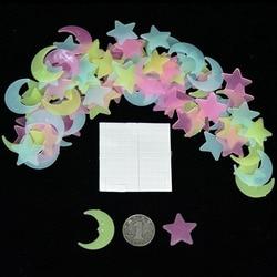 100 Pcs/pack Pretty Glow In The Dark Shining Star Moon Luminescence Wall Stickers Luminous Adhesive Fluorescence Decor Toys