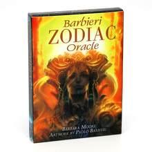 Barbieri zodiac oracle cards tarô kit baralho cartas astrologia conjunto adivinhação cinco línguas inglês espanhol francês italiano alemão