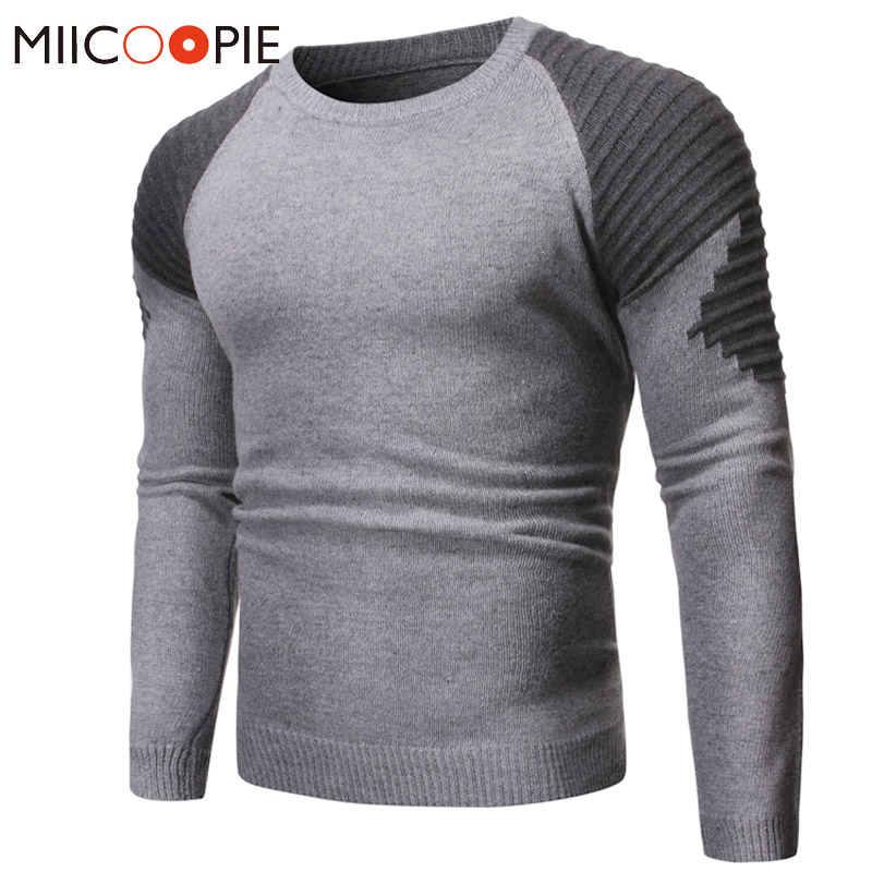 New Striped Sweater Men Fashion Patchwork O-Neck Long Sleeves Pullover Pull Homme Autumn Winter Slim Fit Knitted Sweaters Coats