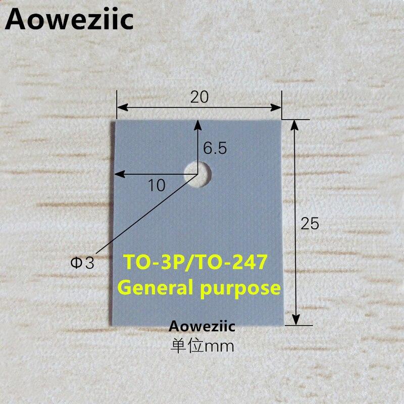 50pcs TO-247 Transistor-Silikon-Isolator-Isolierblatt 20 25mm 4H
