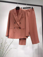 2019 New Autumn Winter Pink Suit Formal Suit Blazer Coat Top Or Long Pants Office Ladies Work Fashion Clothing(China)