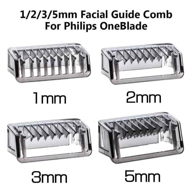 1 2 3 5mm Mặt Hướng Dẫn Lược Da Cơ Thể Salon Tông Đơ Cắt Cho Philips OneBlade phù hợp với cho QP2520/2530/2630/6520 loại