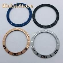38mm preto azul rosa ouro cinza cerâmica moldura inserção para 40mm sub relógio automático masculino