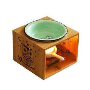 Wooden Incense Holder Candle Burner Creative Oil Wax Melt Burner Vaper Smoke Room Smell Gift Porta Incenso Incent Burner AC50XX