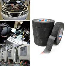 Cinta de terciopelo de alto cableado para automóvil, tejido de acetato negro de 9mm, 15mm, 19mm, 25mm y 32mm, cinta de acetato con temperatura X4P7