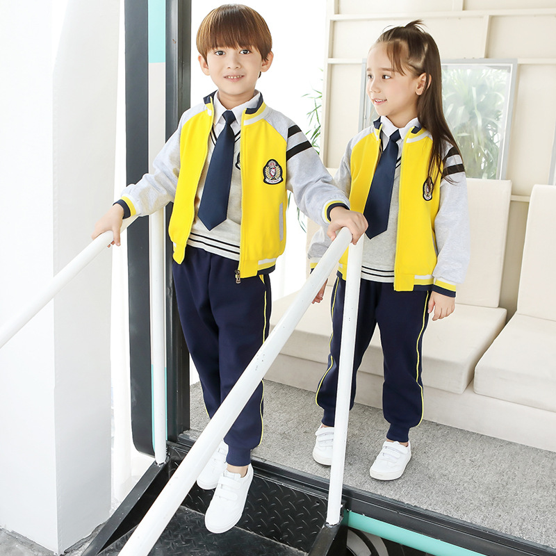 Kindergarten Suit Autumn New Style 2019 Primary School STUDENT'S School Uniform Children Sports Clothing Set College Style Three