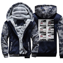 History Of The Winter Men Thick Warm Fleece Jacket