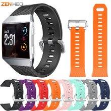 ZENHEO opaska na nadgarstek dla Fitbit Ionic sport TPU silikonowa bransoletka wymiana pasek na rękę dla Fitbit Ionic Watchband opaski