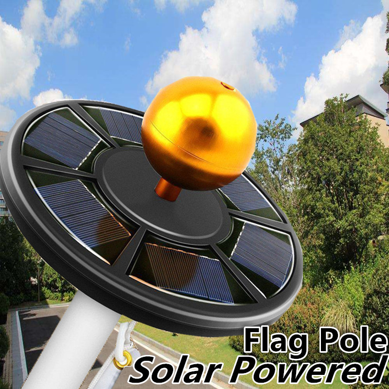 42 LED Solar Powered Energy Flag Pole Lamp Waterproof Outdoor Garden Light Solar LED Light Solar Lamp Sensitive Light Control