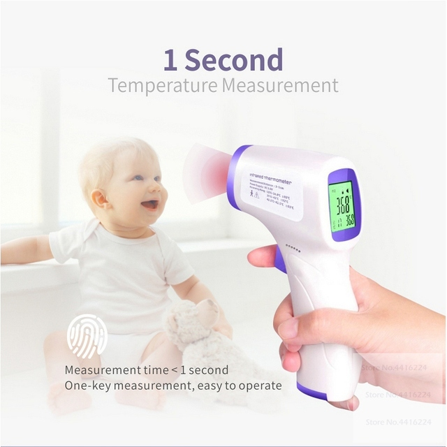 2020 Forehead Thermometer Gun Electronic Digital Infrared Non Contact Baby Neonatal Adult Fever Thermometer Surface Temperature