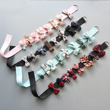 Fashion Girls Princess Headdress Children Accessories 8Pcs/Set Lovely Ribbon Flower Bow Hair Hairpin Decoration