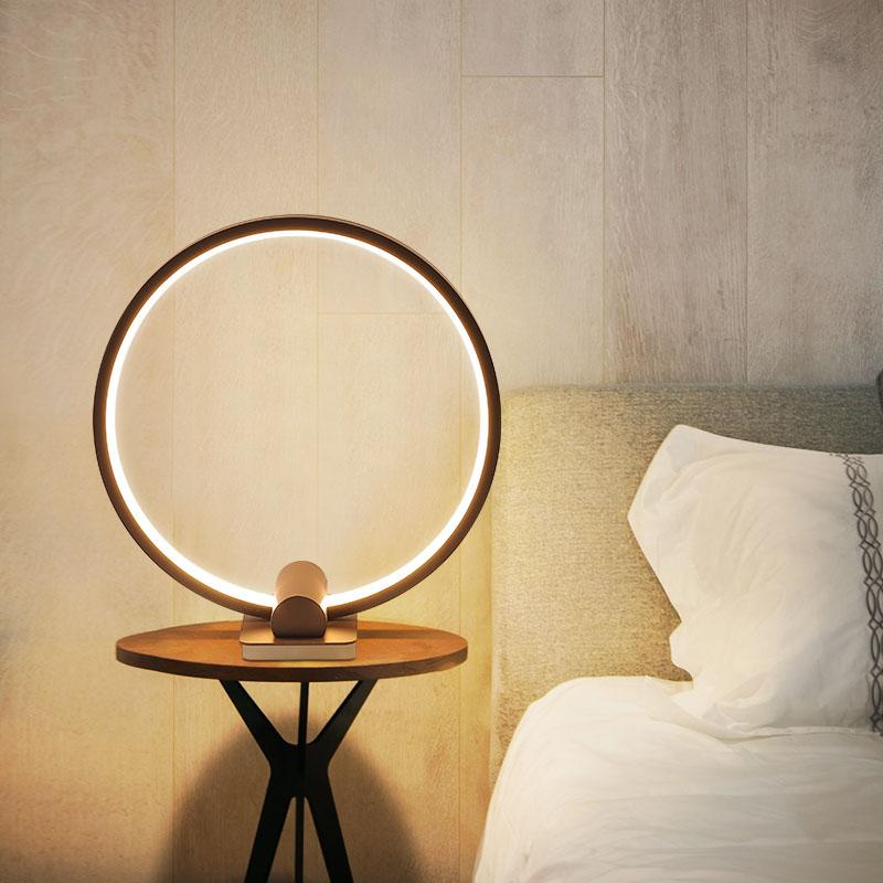 Современная светодиодная настольная лампа для чтения спальня декоративные светильники для дома современный гостиная комнатный Настольны